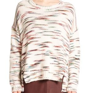 ELIZABETH & JAMES multicolor space-dye Sweater L